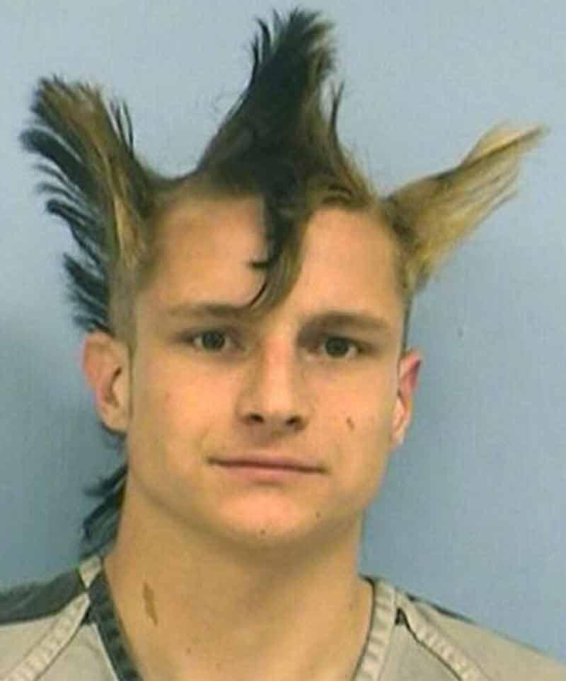the not so magestic tri hawk haircut