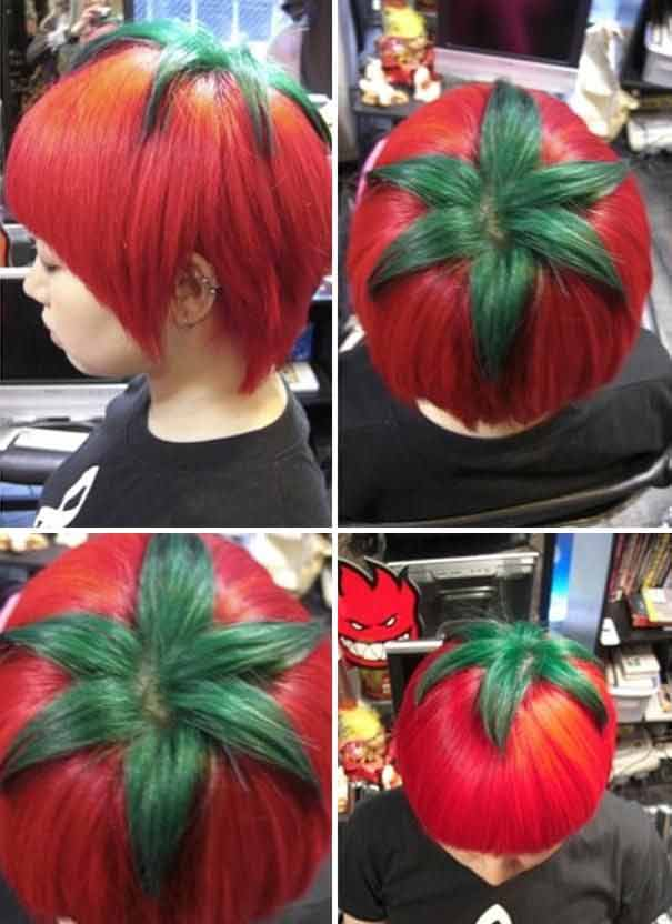 tomato styled hair