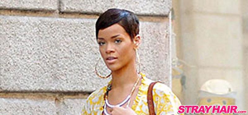 Rihanna Short Hair Cute Pixy Cut