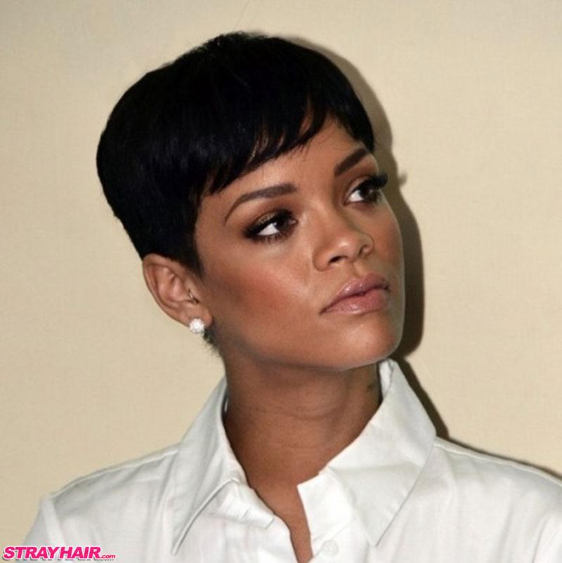 Rihannas Many Great Short Hairstyles Strayhair