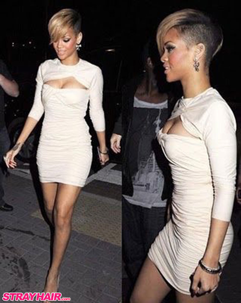Rihanna nice buzzed sides undercut hairstyle
