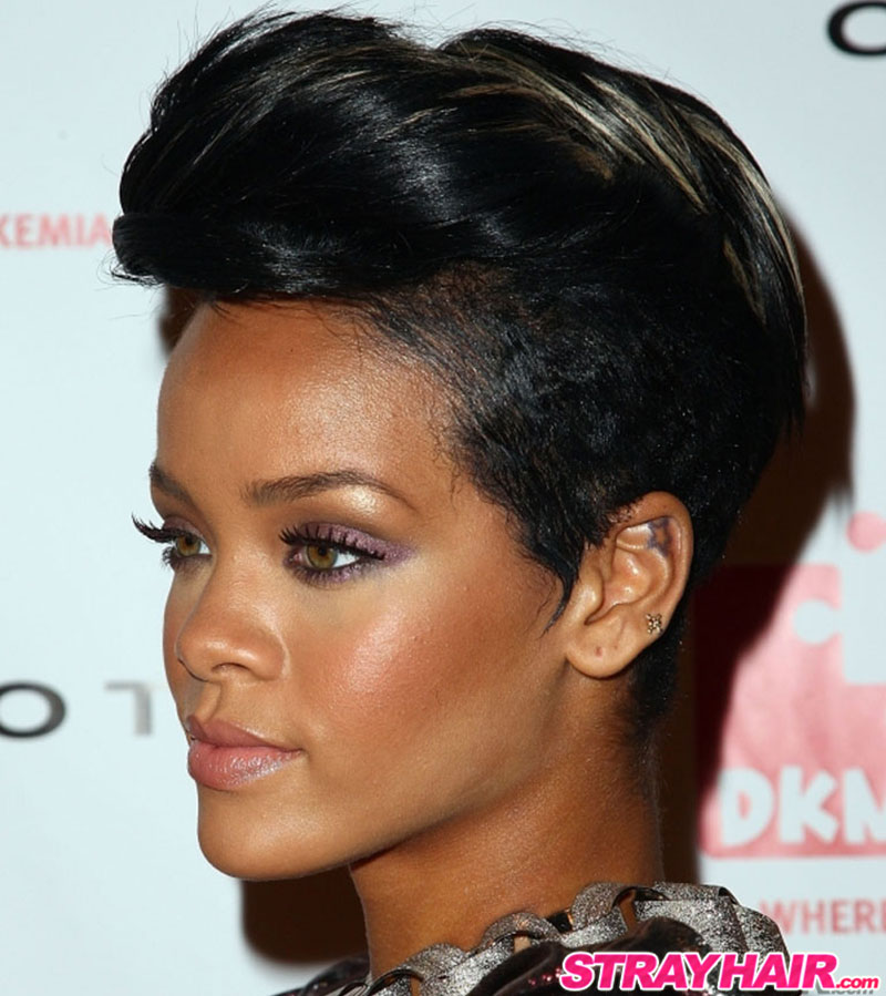 Rihannas Many Great Short Hairstyles – StrayHair