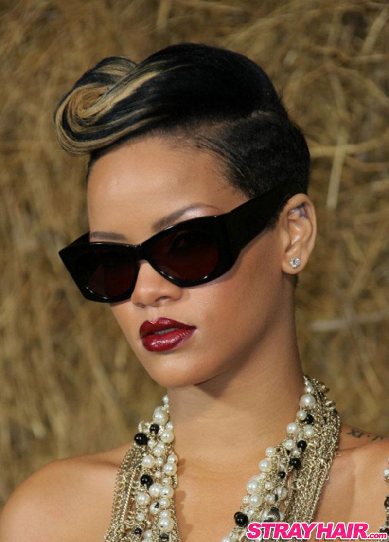 Rihanna vintage hairstyle