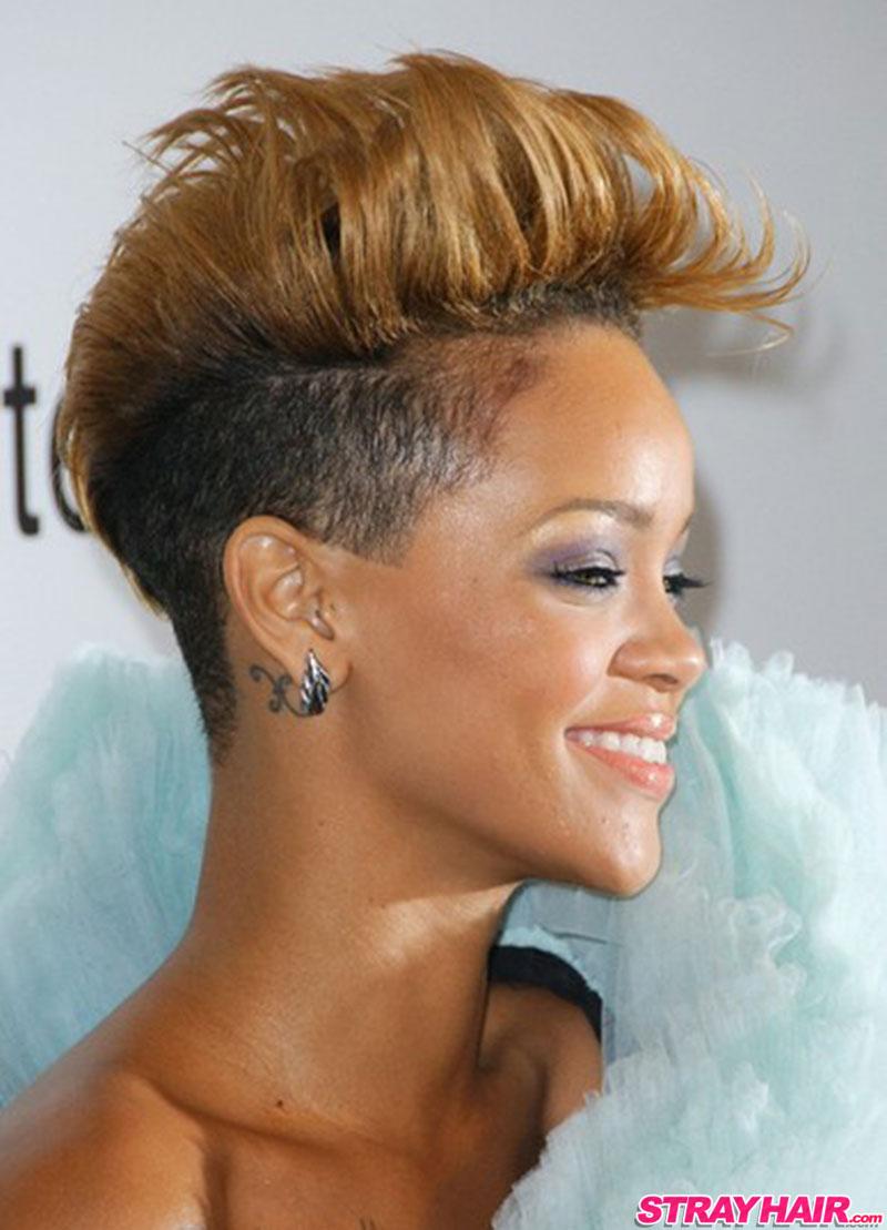 fun pompadour hairstyle rihanna