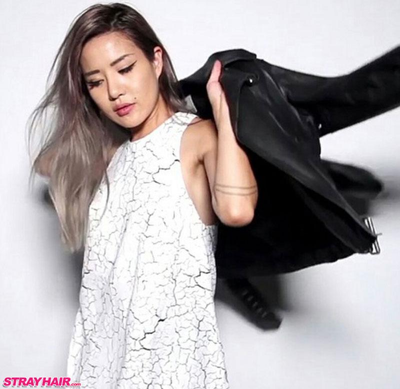 long gray silver hair color