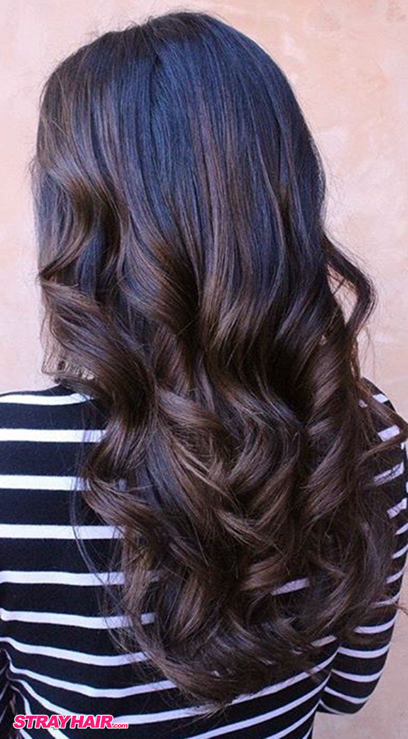 rich browns fall colors balayage