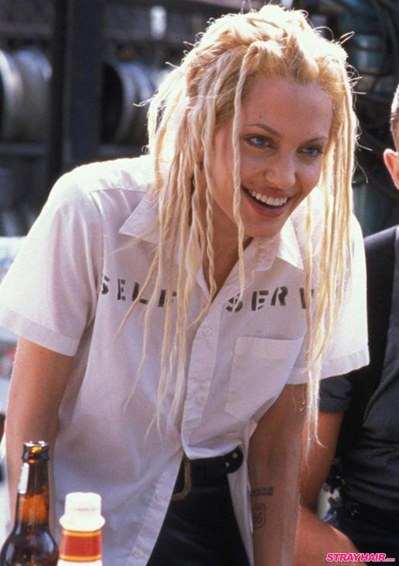 Angelina Jolie Platinum Blonde Faux Dreads In Gone In 60 Seconds