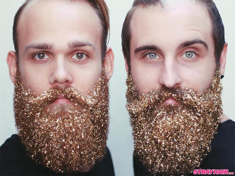 Gold Glitter Beard