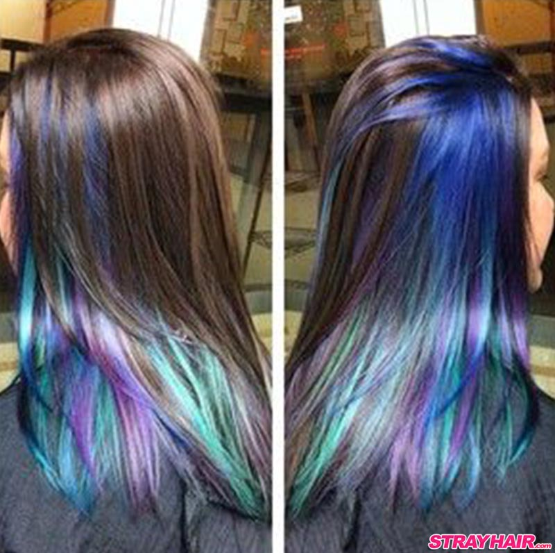 Rainbow Hair Color Hidden